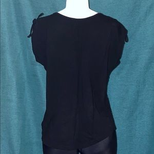 Lane Bryant Tops - Black t-shirt w/silver sequin size 14/16